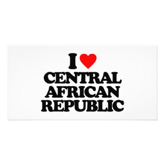 I LOVE CENTRAL AFRICAN REPUBLIC CUSTOM PHOTO CARD
