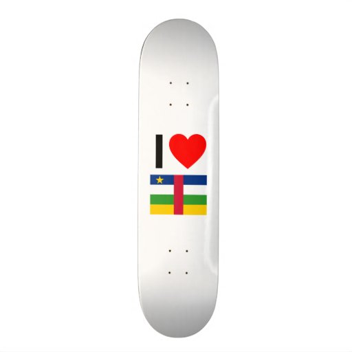 i love central african republic skateboard decks