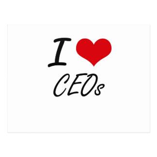 I love CEOs Artistic Design Postcard