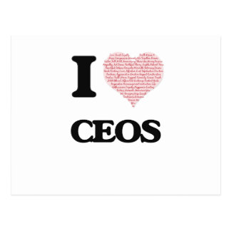 I love Ceos (Heart made from words) Postcard