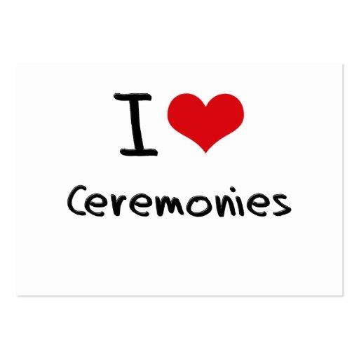 I love Ceremonies Business Card Templates