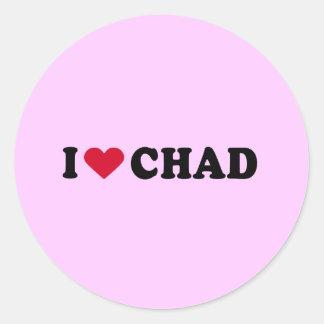 I LOVE CHAD CLASSIC ROUND STICKER
