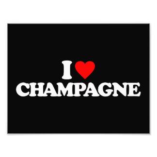 I LOVE CHAMPAGNE PHOTOGRAPHIC PRINT