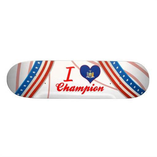 I Love Champion, New York Skate Deck