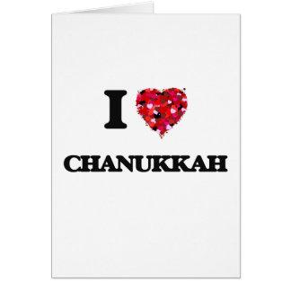 I love Chanukkah Greeting Card