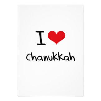 I love Chanukkah Custom Announcements