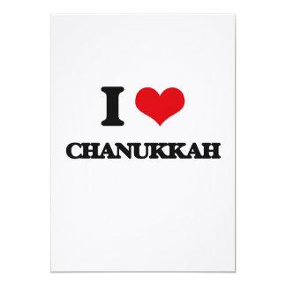 """I love Chanukkah 5"""" X 7"""" Invitation Card"""