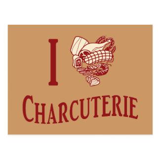 I Love Charcuterie Postcard