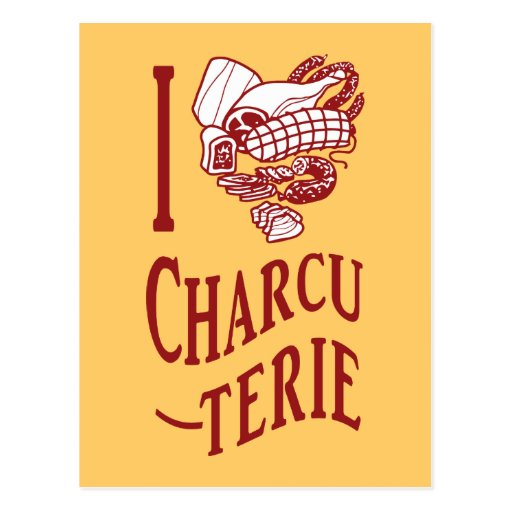 I Love Charcuterie Post Cards