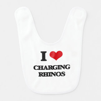 I love Charging Rhinos Bib