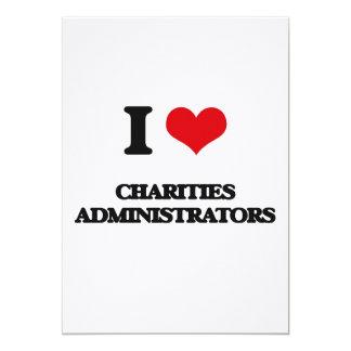 I love Charities Administrators Cards