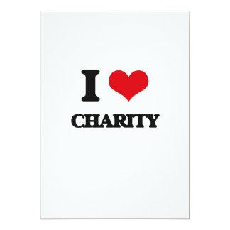 "I love Charity 5"" X 7"" Invitation Card"