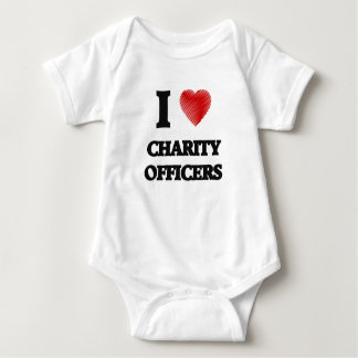 I love Charity Officers (Heart made from words) Infant Creeper