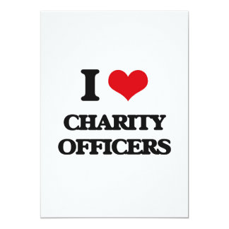 """I love Charity Officers 5"""" X 7"""" Invitation Card"""