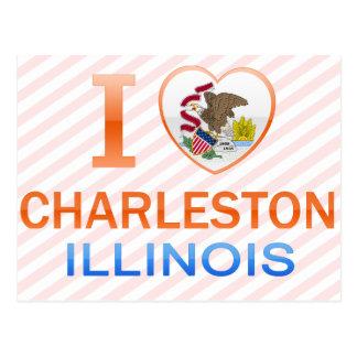 I Love Charleston, IL Postcard