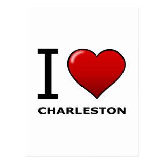 I LOVE CHARLESTON,SC - SOUTH CAROLINA POST CARD