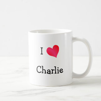 I Love Charlie Basic White Mug