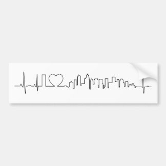 I love Charlotte in an extraordinary ecg style Bumper Sticker