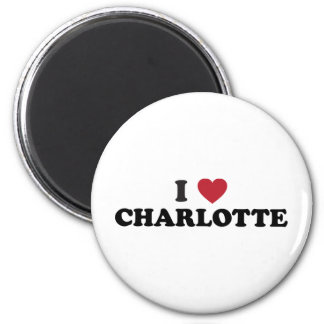 I Love Charlotte North Carolina 6 Cm Round Magnet