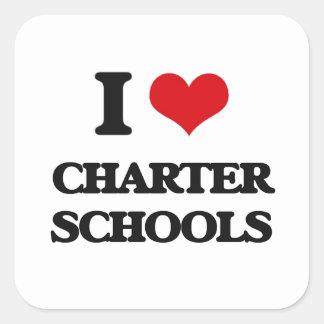 I love Charter Schools Square Sticker