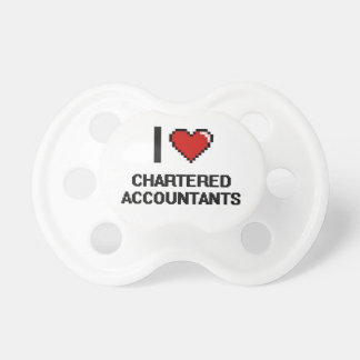 I love Chartered Accountants Baby Pacifier