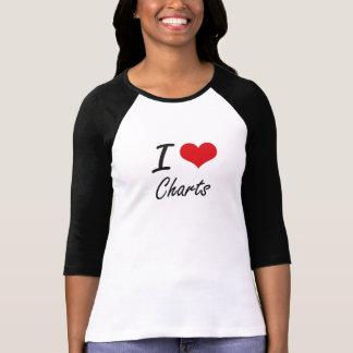 I love Charts Artistic Design T-Shirt