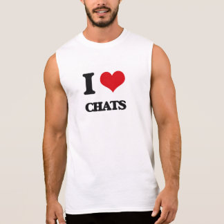 I love Chats Sleeveless Tee