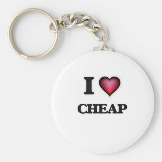 I love Cheap Basic Round Button Key Ring