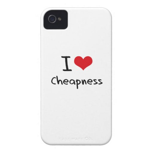 I love Cheapness Case-Mate iPhone 4 Cases