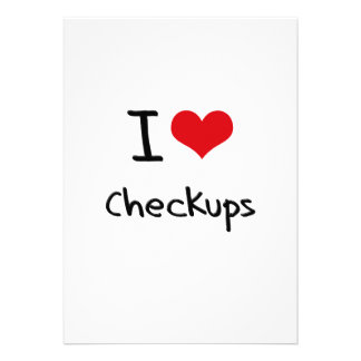 I love Checkups Personalized Invitations