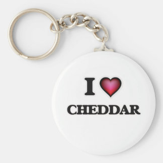 I love Cheddar Basic Round Button Key Ring
