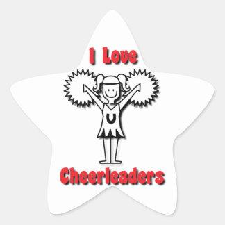 I Love Cheerleaders Star Sticker