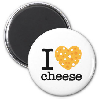 I Love Cheese 6 Cm Round Magnet