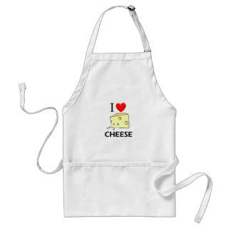 I Love Cheese Adult Apron