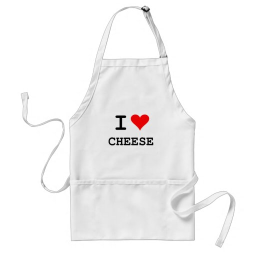 I love cheese (black lettering) aprons