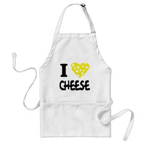 I love cheese icon apron