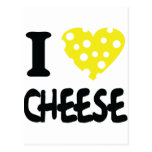 I love cheese icon postcard