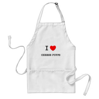 I Love CHEESE PUFFS food Aprons