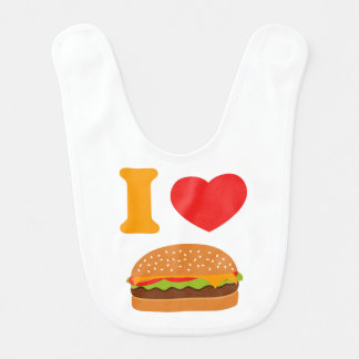 I Love Cheeseburgers Bib