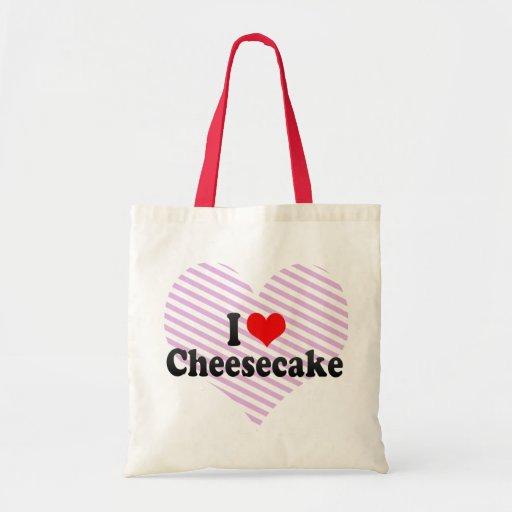 I Love Cheesecake Canvas Bag