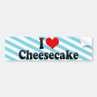 I Love Cheesecake Bumper Sticker
