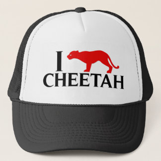 I Love Cheetah Trucker Hat