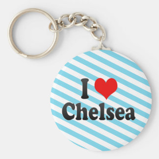 I Love Chelsea, United States Basic Round Button Key Ring