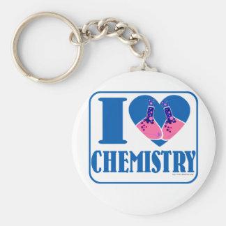 I love Chemistry Basic Round Button Key Ring