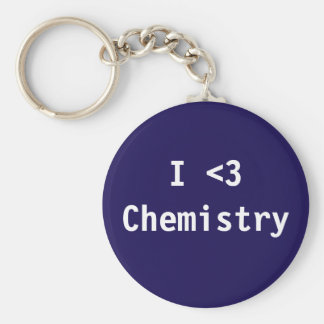 I Love Chemistry Key Ring