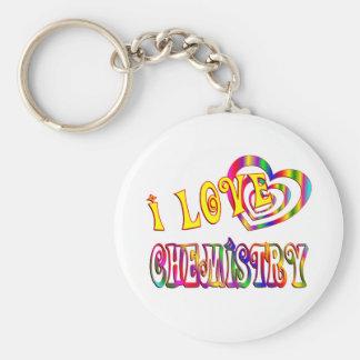 I Love Chemistry Keychains