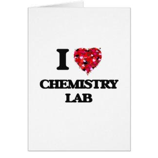 I love Chemistry Lab Greeting Card