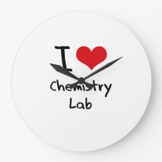 I love Chemistry Lab Large Clock