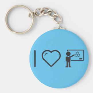I Love Chemistry Teachers Key Ring