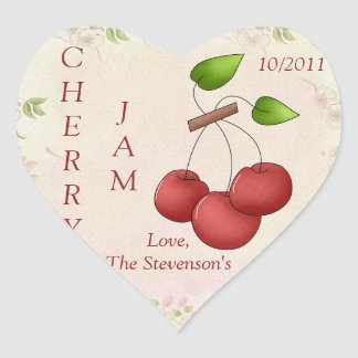 I Love Cherry Jam Heart Sticker